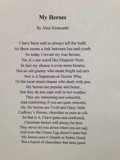 hero poems