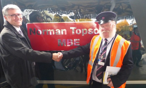 GWR. Retirement party for Norman Topsom MBE. Twyford and Henley-on-Thames, England. October 30 2015