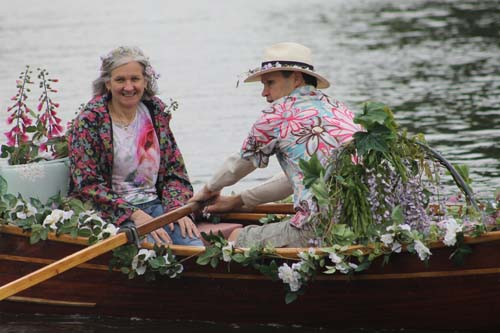 Chelsea Fringe in Henley Floral Flotilla