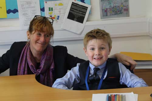 Joe Scott-Wood Headteacher for the Day Trinity School Henley