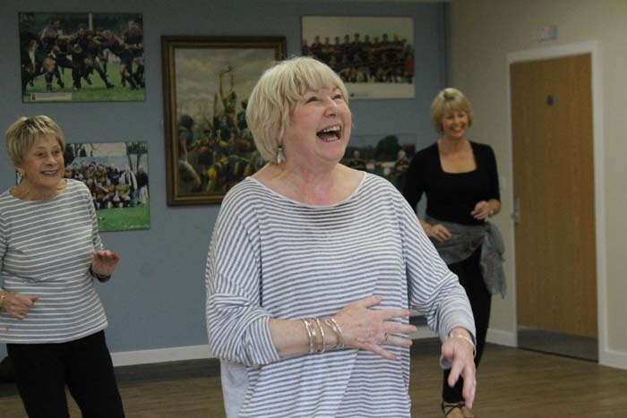 New zumba gold class at rugby club henley herald for Living room zumba