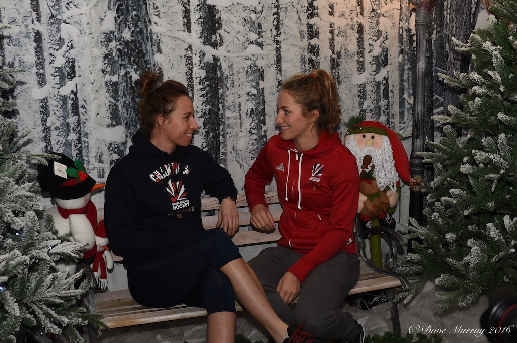 England Hockey Team Visit Toad Hall Santa's Grotto