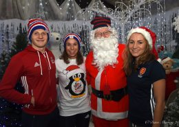 England Hockey Team Visit Toad Hall Santa's Grotto