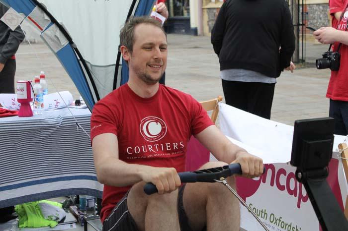 Courtiers Row-a-thon for Mencap