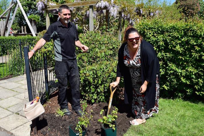 Councillor Kellie Hinton Plants Commemorative Mayor Roses