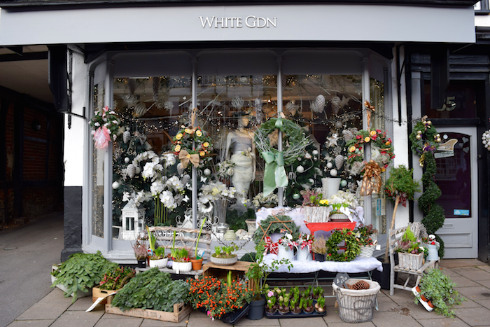 Florist White Garden Snow Queen Wins The Greatest Snowman Christmas Window Display Competition