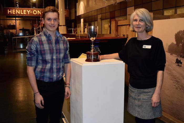 2018 Henley Selkie Classic Swim Winners Presentation Inman Ovey Trophies